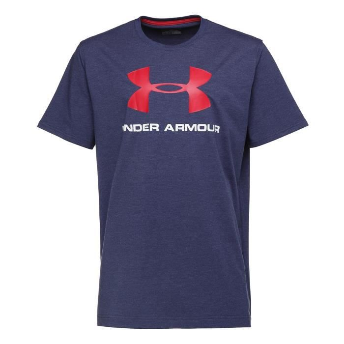 UNDER ARMOUR T-Shirt Sportstyle Logo - Homme - Bleu