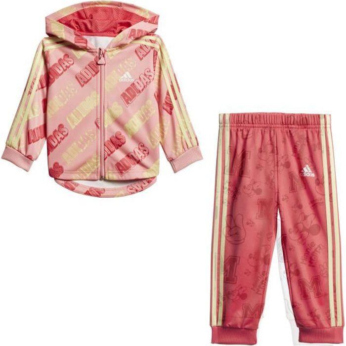 Survêtement Adidas Shiny rose bebe
