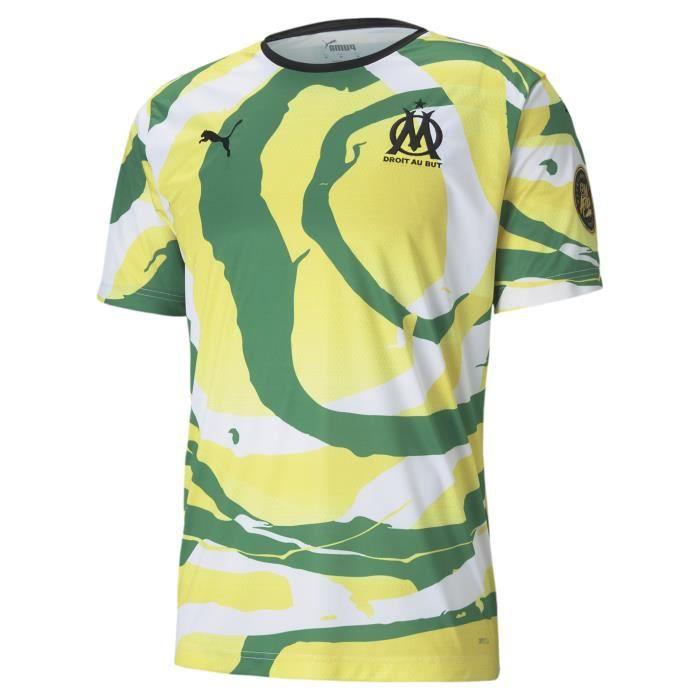 Maillot OM x Africa - jaune/vert/blanc - XS