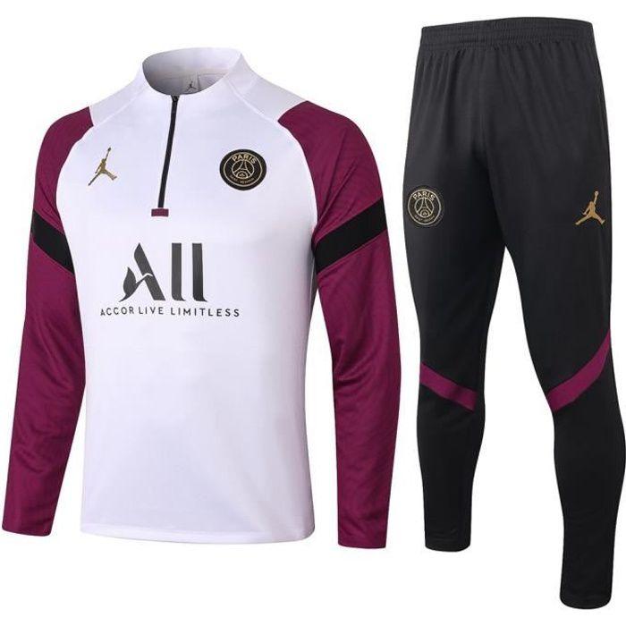 Survêtements PSG x Jordan 2021 NIKE Maillot Homme Enfants Maillot de Football Nouveau - Blanc