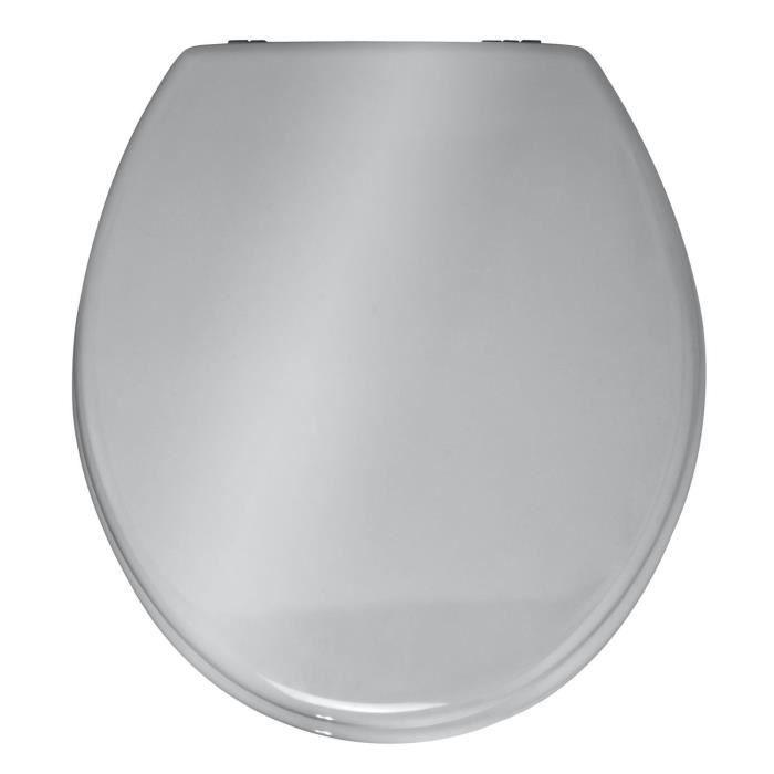 Abattant WC Prima Coloris Argenté - Dim : 37 x 41 cm