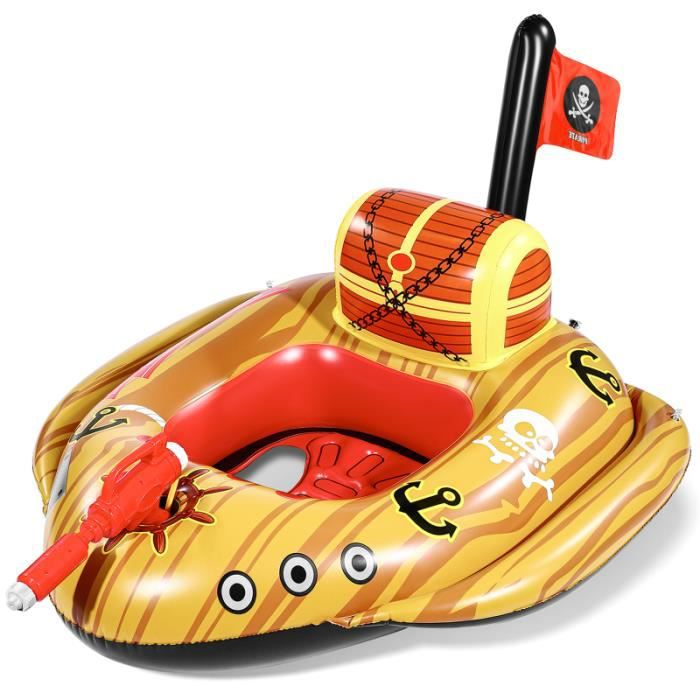 Unomor siège bateau pirate navire eau jeu Jouets structure gonflable - aire de jeux gonflable jeux de recre - jeux d'exterieur