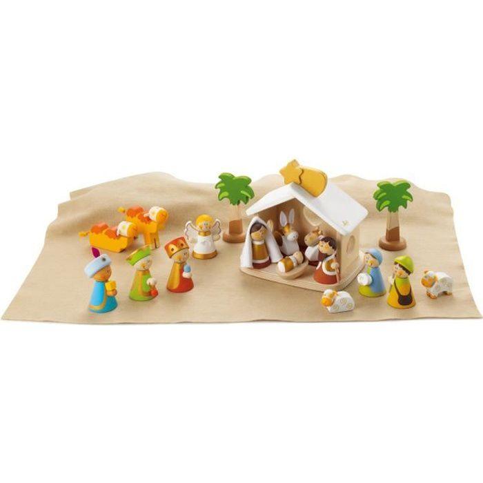 Crèche de Noël en bois complète - Sevi
