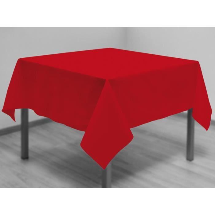 Nappe anti-tâches carrée 180x180 cm ALIX rouge par Soleil d'ocre.