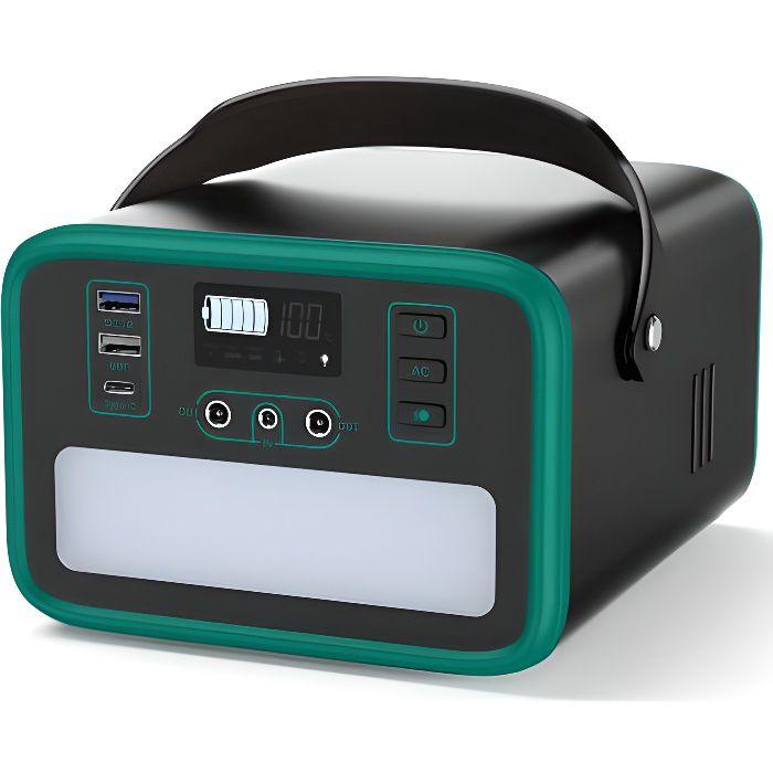 240Wh/75000mAh Générateur Solaire Portable, Sorties AC 150W et Prises AC/DC/USB/PD 60W LiFePO4 Batterie pour CPAP/d'Urgence /Voyage