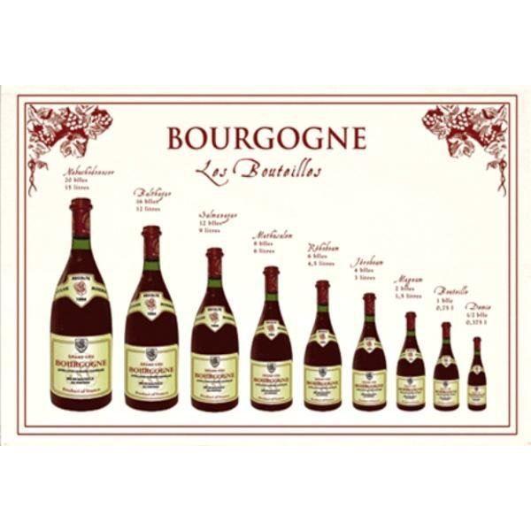 Torchon Bouteilles Bourgogne