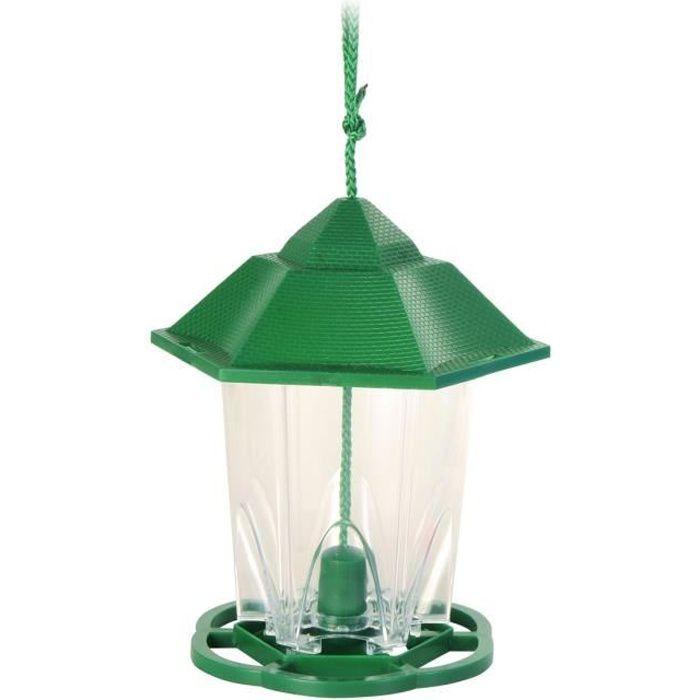 Mangeoire extérieure lanterne pour oiseaux 300 ml/17 cm