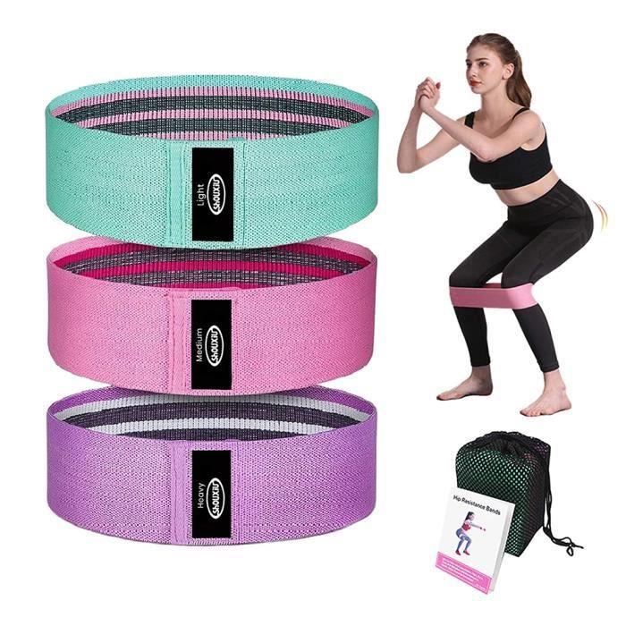Bande Elastique musculation Élastique Fitness Femme Elastic band Sport Fitness Musculation pour Les Jambes Fesses Yoga Pilates