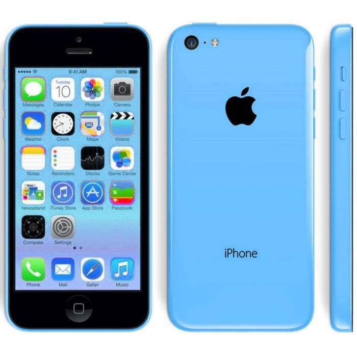 apple iphone 5c 8go smartphone t l phone d 39 occasion bleu achat smartphone pas cher avis et. Black Bedroom Furniture Sets. Home Design Ideas