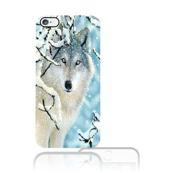 coque iphone 5 5s loup blanc swag vintage