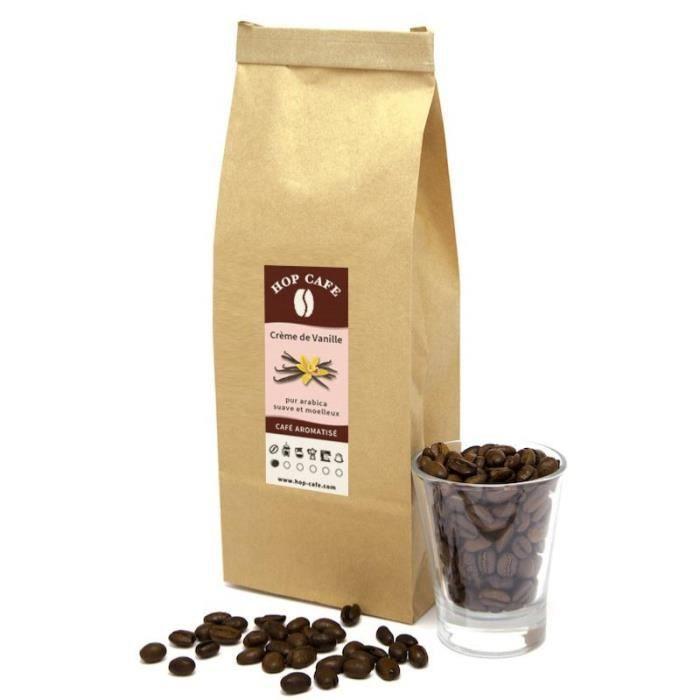 CAFÉ Café en grains aromatisé Vanille - 1kg