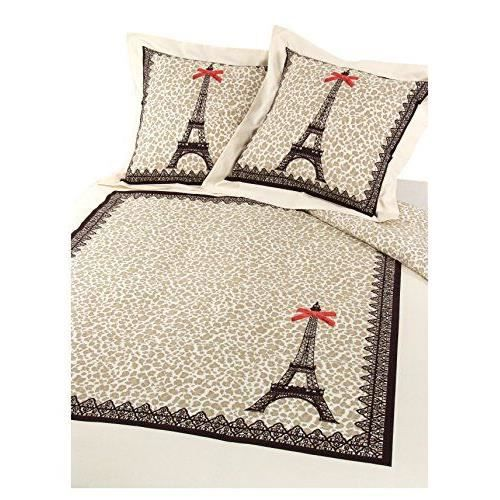 parisch ri hc2002toplecae paris l opard housse de couette forme bouteille 2 taies d 39 oreiller. Black Bedroom Furniture Sets. Home Design Ideas