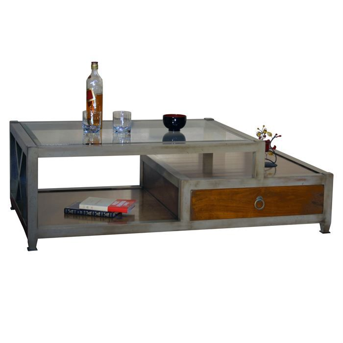 Table basse contemporaine de grand format achat vente table basse table b - Table basse grand format ...