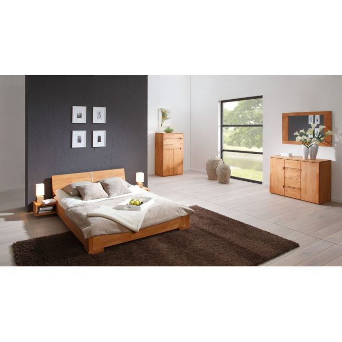 lit adulte zenno bas 160x200 naturel t te n 3 achat vente structure de lit cdiscount. Black Bedroom Furniture Sets. Home Design Ideas