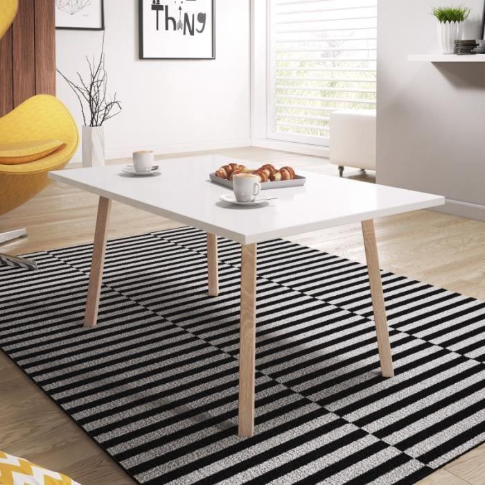 hêtre basse Table cm blanc en style PASSA mat bois de 80 style scandinave pieds Table minimaliste scandinave NOP0kXw8nZ