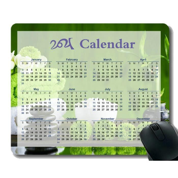 Calendrier 2021 Tapis De Souris Antidérapant,Spa Artificiel YT131