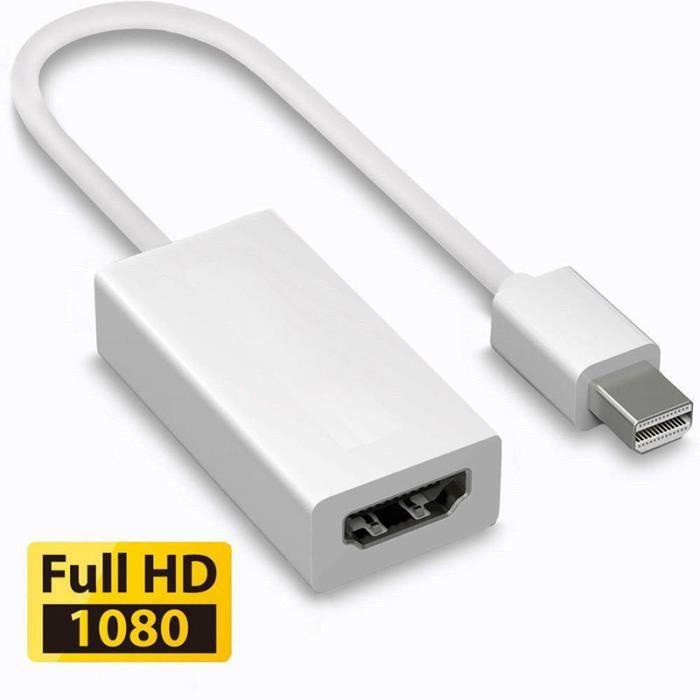Port D Affichage Dp Vers Hdmi Câble Adaptateur Macbook Pro Air 1080p Câble Tv Vidéo Son Avis Et Prix Pas Cher Cdiscount