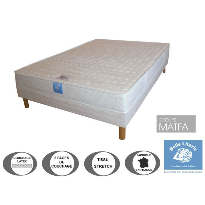 ensemble matelas ergoflex belle literie par ame 2009992624575 achat vente ensemble. Black Bedroom Furniture Sets. Home Design Ideas