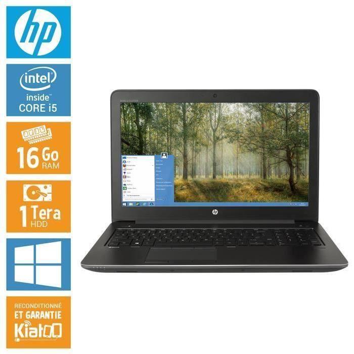 ORDINATEUR PORTABLE HP ZBOOK 15 core i5 16 go ram 1 To disque dur , or