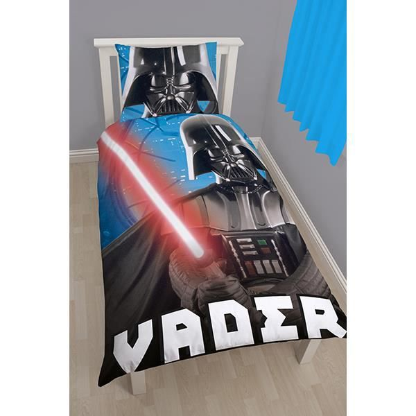 parure de lit star wars dark vador achat vente parure de couette cdiscount. Black Bedroom Furniture Sets. Home Design Ideas