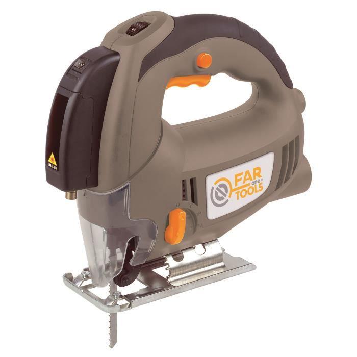 Scie sauteuse pendulaire électrique 600 W Lames de scie vitesse variable avec extraction de poussière NEUF