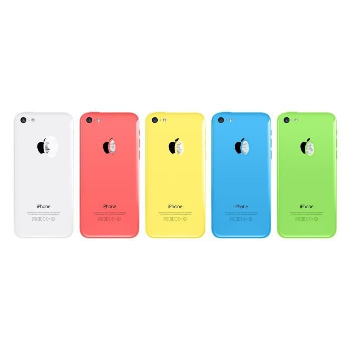 chassis coque facade arriere pour iphone 5c blanc