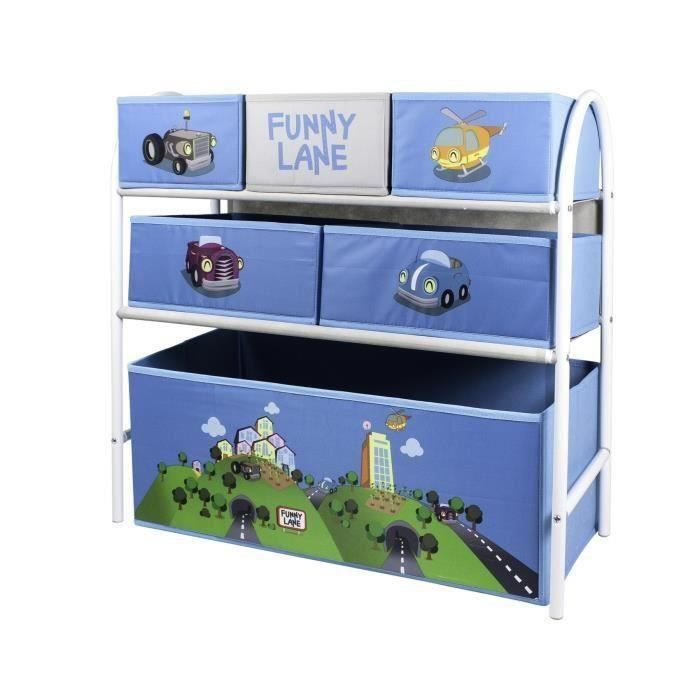 my note deco meuble de rangement enfant etag re casiers textiles funny lane achat vente. Black Bedroom Furniture Sets. Home Design Ideas