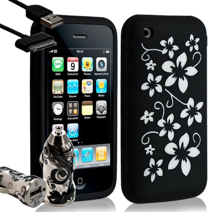 Housse coque silicone pour apple iphone 3g 3gs achat for Housse iphone 3gs