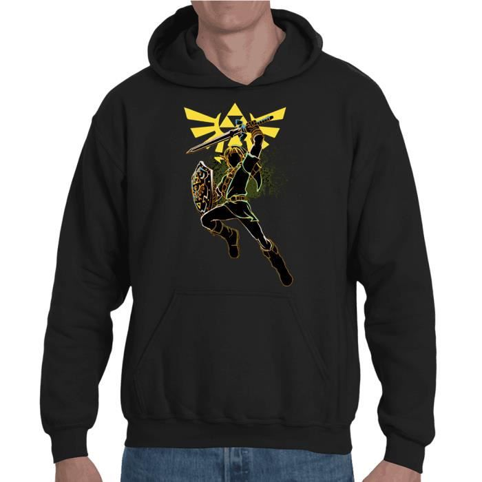 Link Zelda à capuche Noir sweat Noir Achat Artwork Sweat Vente a1xwpgw
