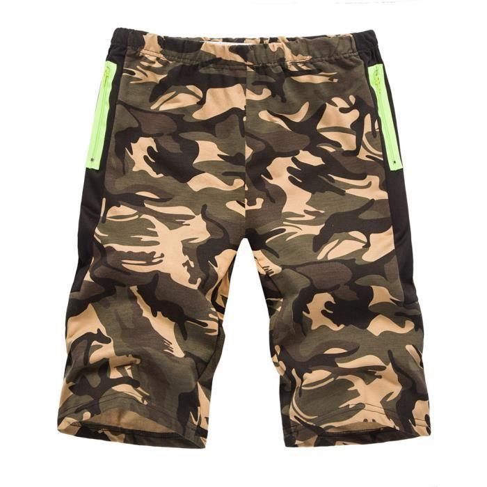Minetom Homme Eté Camouflage Elastique Cargo Loose Shorts de Sport Bermuda Pantacourt Militaire Gym Jogging Casual Vintage Pantalon