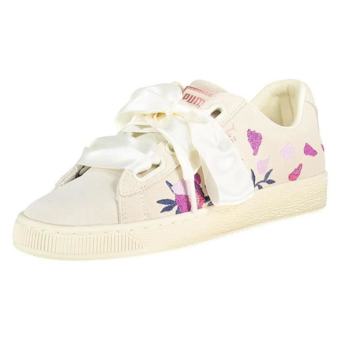 Chaussures femme baskets puma select suede heart flowery