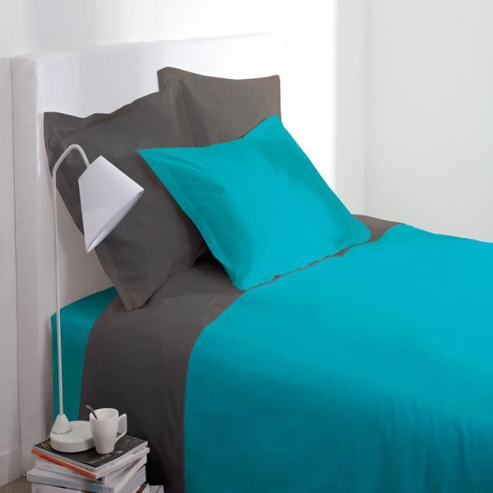 paris prix housse de couette 140x200cm turquoise achat. Black Bedroom Furniture Sets. Home Design Ideas