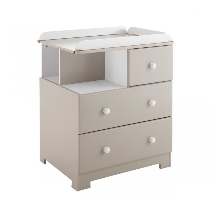 Poyet motte mobilier commode a langer taupe taupe achat vente armoire poy - Commode a langer cdiscount ...