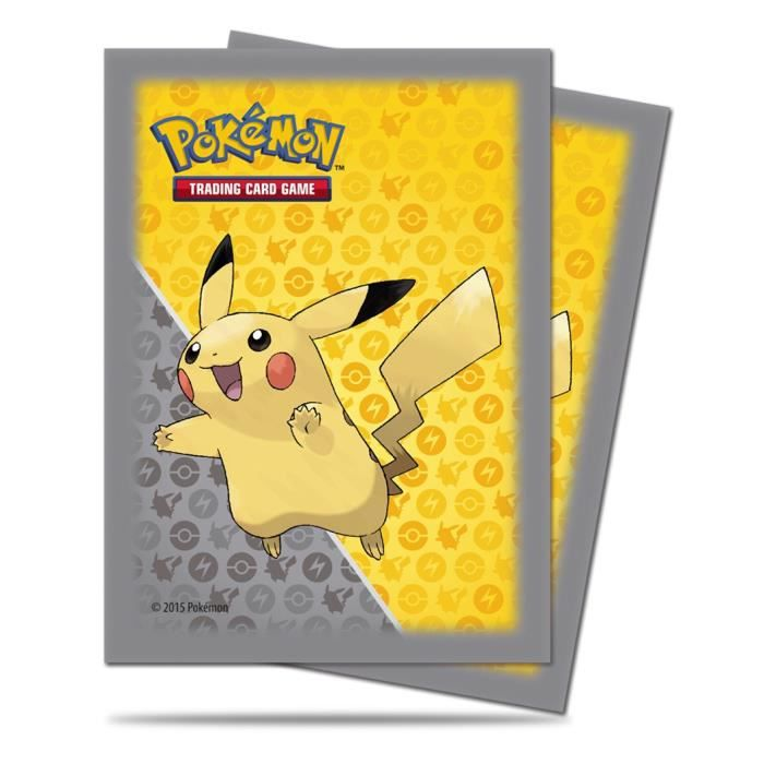 pokemon lot de 65 sleeves pikachu 2015 protector protection proteges cartes neuf