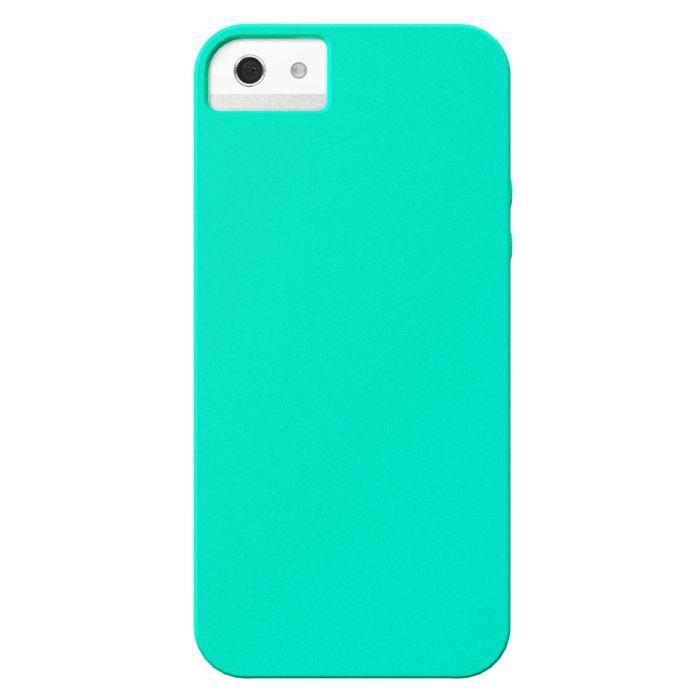Coque iPhone 5 arrière soft bleu turquoise - Cdiscount Téléphonie