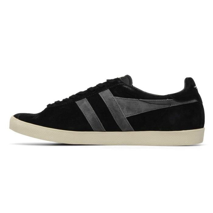 Chaussure Baskets basses Gola Trainer Suede Black Anthracite Homme Pointure 45
