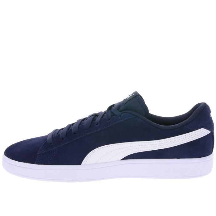PUMA Real Leather Sneaker Chaussures Homme Smash v2 Bleu u6ESSVWb5d