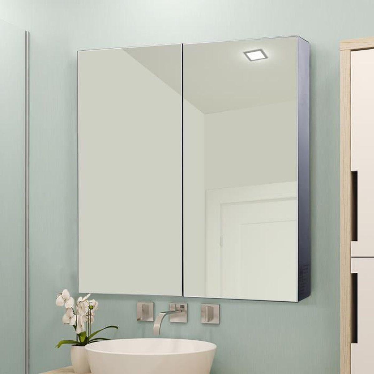 Eclairage Volume 2 Salle De Bain armoire à glace armoire à pharmacie miroir double porte 3