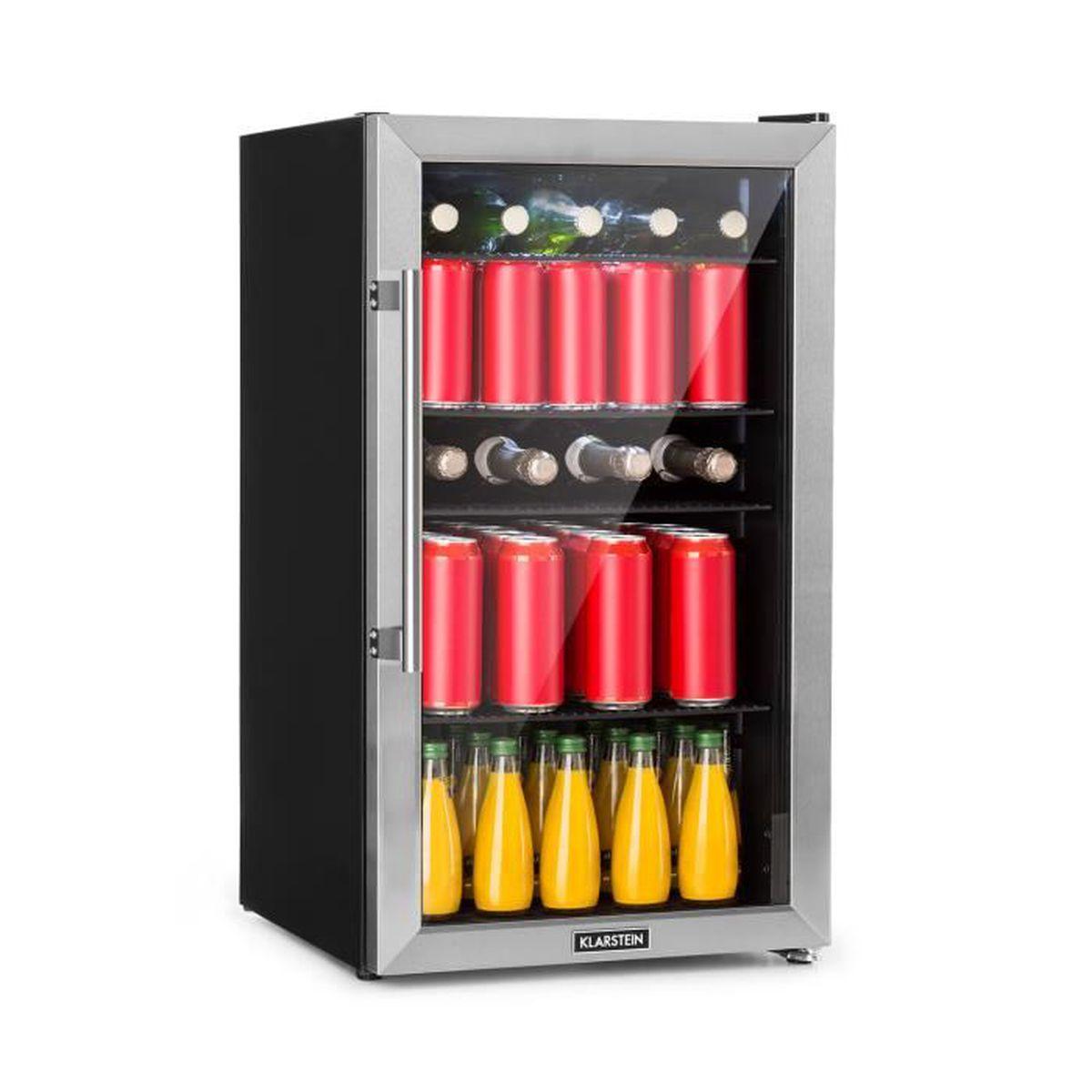 2 en 1 Mini Réfrigérateur Argent détient Boissons canettes Compact bar réfrigérateur