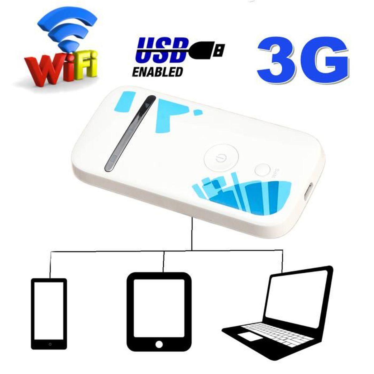 MODEM - ROUTEUR Pratique Routeur 3G 4G WIFI Mobile Hotspot San Fil