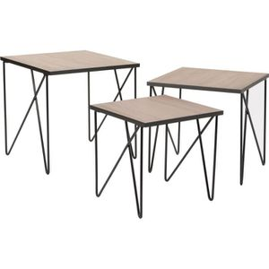Table gigogne metal achat vente table gigogne metal for Table esprit industriel