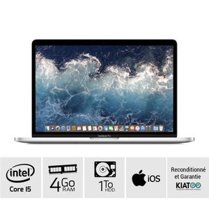 Top achat PC Portable MACBOOK PRO 13 pouces Gris core i5  4 go ram 1 To HDD disque dur clavier QWERTY pas cher
