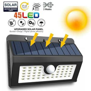 LAMPE DE JARDIN  Lampes solaires extérieur de sécurité détecteur de