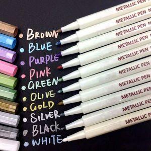 SET DE BUREAU Marqueur Métallique Pens 10 Couleurs,Multicolore