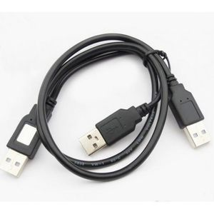 CÂBLE INFORMATIQUE Cable double usb alimentation usb pour boitier dis