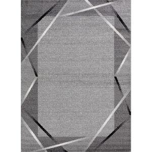 TAPIS Tapis de salon Santana gris, noir, blanc 80 x 150