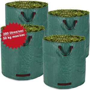 SAC À DÉCHETS VERTS  DEUBA | Lot de 4 sacs de jardin - 280 litres, char