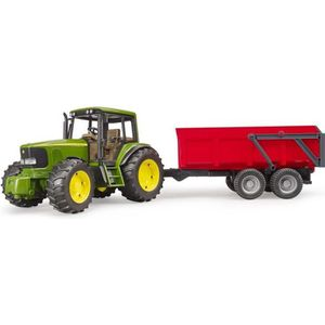 UNIVERS MINIATURE BRUDER - Tracteur JOHN DEERE 6920 avec remorque ba