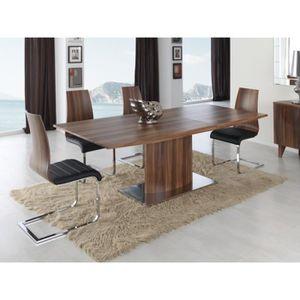 TABLE À MANGER SEULE Table VELA extensible en bois couleur noyer longue