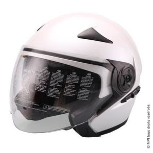CASQUE MOTO SCOOTER CASQUE JET - TAILLE L - BLANC